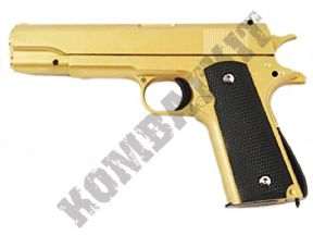 G13 Gold BB Gun | Colt 1911 Style BB Pistol | 2 tone metal airsoft guns UK | KombatKit